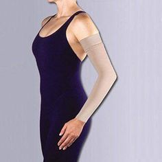 bf01969e37 Jobst Bella-Lite Lymphedema Armsleeve w/ Silicone Band - mmHg Long Beige  Large Long 101336