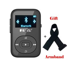 promo ruizu x26 8gb clip sport bluetooth mp3 music player with fm radio record lossless sound portable #sound #clips