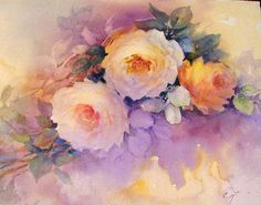 Soft roses | ARTchat - Porcelain Art Plus (formerly Chatty Teachers & Artists)