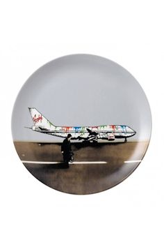 Royal Doulton Street Art Nick Walker Vandal Airways 10.75in Plate, Limited Edition.  At Waterford Wedgwood Royal Doulton, San Marcos, TX or call 1-800-203-4540 or 512-396-4025.  We ship.