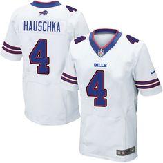 Men's Nike Buffalo Bills #4 Stephen Hauschka Elite White NFL Jersey