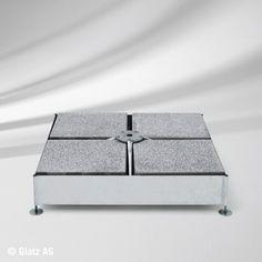 Sockel M4, 240 kg, Stahl verzinkt für 16 Platten für Glatz Sonnenschirme, ohne…