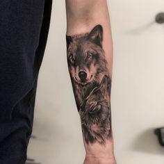 9,380 Likes, 73 Comments - Photo by (souwashere) on Instagram | #wolf #wolfs #wolftattoo #blackandgreytattoo #blackandgray #tattoo #tattoos #tattoosleeve #ink #tattooink #art #arttattoo #slontattoo #israeltattoo #animalstattoo #mai__ya