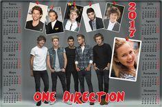 Calendarios para Photoshop: Calendario del 2017 de One Direction para Photosho...