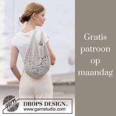 Drops Design, Clutch Purse, Drawstring Backpack, Art For Kids, Purses, Crochet Bags, Crochet Ideas, Sewing, Shopping Bags