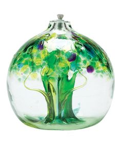 This Tree of Spring Kitras Oil Lamp by Kitras Art Glass is perfect! #zulilyfinds