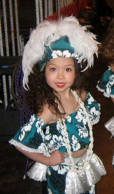 Tahitian girl...they start young in our culture