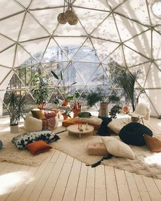 11 Enchanting Sun Room Design Ideas For Relaxing Room In The Morning - Home Design - lmolnar - Best Design and Decoration You Need Loft Interior Design, Exterior Design, Interior And Exterior, Interior Ideas, Rustic Exterior, Oversized Pillows, Bohemian House, Bohemian Design, Bohemian Decor