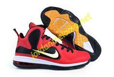 Nike Lebron 9 Sample Red Black Yellow 469764 001 9c9bc218f