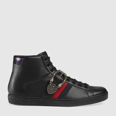 Gucci Ace high-top sneaker with Dionysus buckle