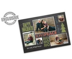 Happy Holidays Chalkboard 4x6 Christmas Photo Card