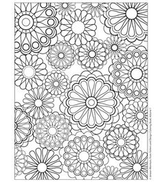 Free Coloring Pages from Jeanean Morrison's Pattern and Design Coloring Book on the Sew,Mama,Sew! blog