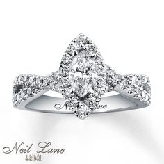Neil Lane Engagement Rings White And Rose Gold 10 love this cut..