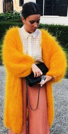Gros Pull Mohair, Orange Cardigan, Angora Sweater, Erotic, Cardigans, Sweaters, Girly, Vest, Orla Kiely