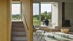 Hamra House by Collectif Encore Wins the Kasper Salin Prize - Dwell Sweden House, Le Prix, Metal Railings, Concrete Houses, Architecture Awards, Exposed Wood, Swedish Design, Large Windows, Little Houses