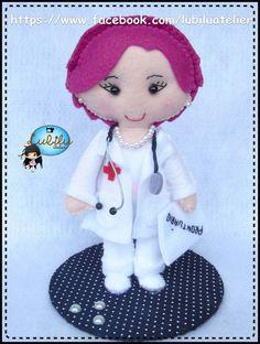 Eu Amo Artesanato: Boneca enfermeira com molde