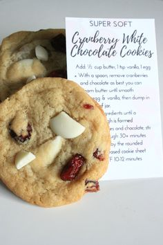 Tart cranberries and sweet, creamy white chocolate come together beautifully in this soft, craveable cookie.      Here at Bake, we take pride in using only the highest quality ingredients in our gourmet baking mixes. Each mix is packaged in a recyclable glass mason jar. | Shop this product here: http://spreesy.com/Chelsey_TheBakeSite/14 | Shop all of our products at http://spreesy.com/Chelsey_TheBakeSite    | Pinterest selling powered by Spreesy.com
