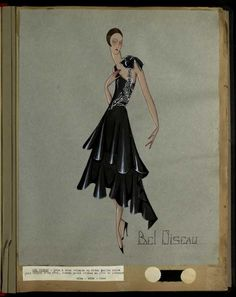 Robe Bel Oiseau, Paris 1928-29, copyright Patrimoine Lanvin #JeanneLanvin #Lanvin