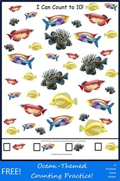 {FREE} I Can Count to 10: Ocean Animals! Perfect for preschool and ocean themes!