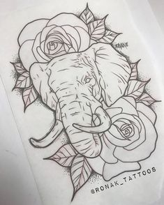 "• RON▲K P▲TEL • on Instagram: ""Appointment prep. 🤙🏽 Elephants are such beautiful creatures and a tattoo of one can hold some very powerful meanings to the person wearing…"""