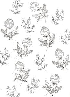Pomegranate wallpaper. | Katt Frank.