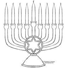 Menorah coloring page - Hannukah | Winter with kids | Pinterest ...