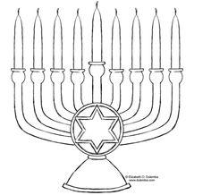 Easy to print menorah coloring page | Hanukkah | Pinterest | Menorah ...