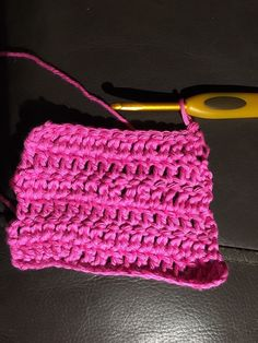 Learning the stitches from a book with the help of crocheting friends and YouTube.