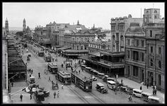 Trams long gone, sadly ---> King William Street, Adelaide, South Australia 1923 (State Library of South Australia) Backpacking Europe, Bora Bora, Australian History Facts, Charleston Sc, Belfast, Belize, Advance Australia Fair, Adelaide South Australia, Adelaide Cbd
