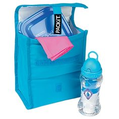 PACkit Cooler Bottle & Lunch Bag It's a freezable, insulated bottle bag, and it's a green lunch sack! And no matter how you use it, this versatile cooler bag will save you time.