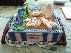Egyptian style mummy cake