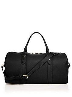 GiGi New York Henley Pebbled Leather Duffle Bag - Black