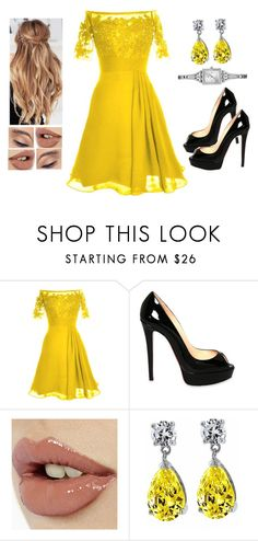 """""""Modern Belle"""" by teodoramaria98 ❤ liked on Polyvore featuring Christian Louboutin, Charlotte Tilbury, Bling Jewelry, GUESS and modern"""