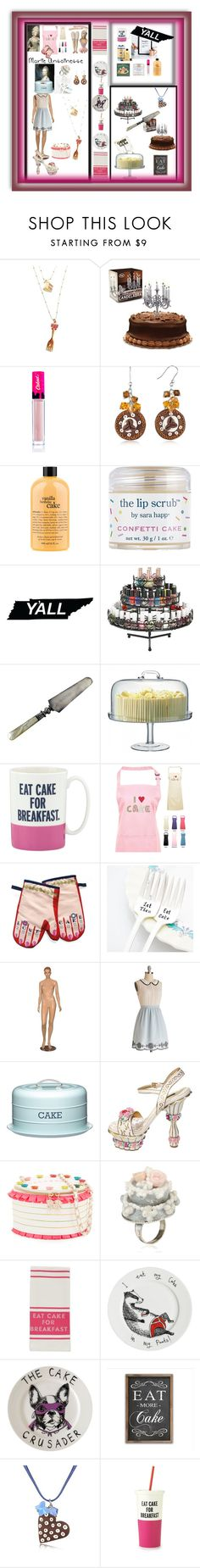 """""""It's Just Cake to Me"""" by mcronald-denise ❤ liked on Polyvore featuring Betsey Johnson, Caked, Dolci Gioie, philosophy, Sara Happ, LSA International, Kate Spade, Stuart Gardiner, Dolce&Gabbana and Les Délices de Rose"""