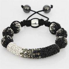 Shamballa Black White Czech Crystals Bracelet Sale [Black White 2012 shamballa] - $69.99 : Shamballa Beads Bracelets, Shamballa Jewelry Online
