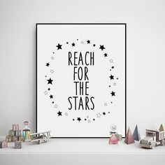 Freeshipping Nordic Minimalist Kawaii Typography Stars Quotes A4 Art Print Poster Nursery Wall Art Canvas Painting Kids Room Decor by PicSaying