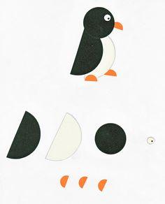Voici en images comment réaliser chacun des animaux que les enfants ont créés pour décorer leur calendrier (voir le message du 25 janvier). ... Hand Crafts For Kids, Animal Crafts For Kids, Diy For Kids, Toddler Art, Toddler Crafts, Toddler Activities, Activities For Kids, Paper Crafts Origami, Origami Owl