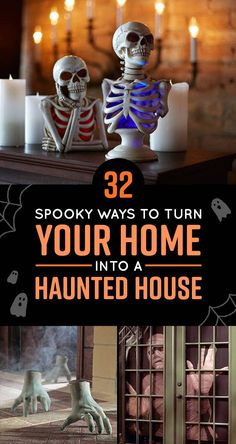 32 Creepy Products To Transform Your Home Into A Haunted House Haunted House For Kids, Haunted House Party, Haunted House Decorations, Scary Halloween Decorations, Halloween Haunted Houses, Halloween House, Spooky Halloween, Halloween Crafts, Happy Halloween