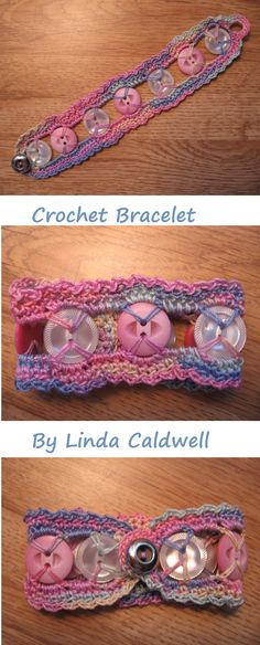 Crochet Button Bracelet - still thinking about Sue Cross... this is closest to her idea... and I think I can get even closer. :)