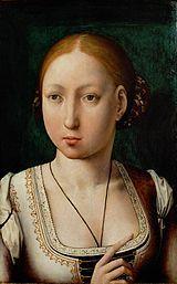 Juana I de Castilla por Juan de Flandes.