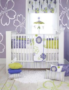 Cute baby girl room.
