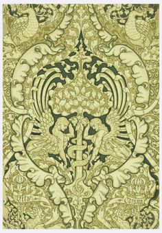 This object was manufactured by Jeffrey & Company anddesigned by Walter Crane  1890Source - Cooper Hewitt
