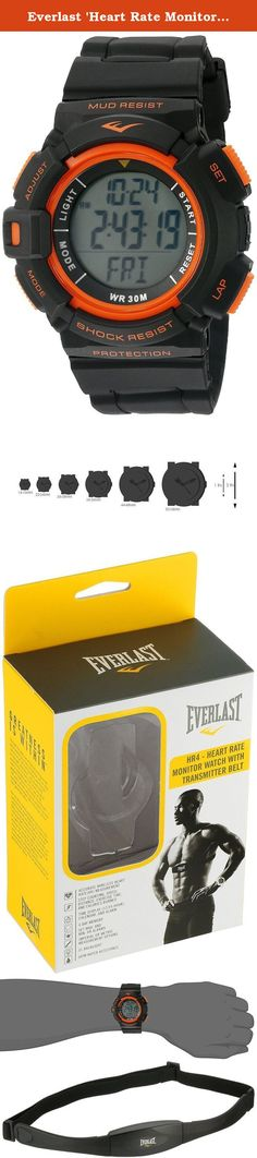 Everlast 'Heart Rate Monitor' Automatic Plastic and Rubber Fitness Watch, Color:Black (Model: EVWHR004BK). A healthy heart means a healthy you, and that's what you'll be with the Everlast HR4 Heart Rate Monitor Watch with Transmitter Belt. Track your BPM for optimal workout results! About EverlastThe name Everlast is synonymous with boxing, although the company started out as a swimwear manufacturer in the Bronx in 1910. Everlast is a global leader in the design, manufacturing, licensing...