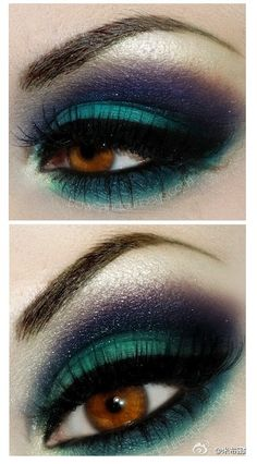 Green Smokey Eye Makeup Tutorial #makeup #eyemakeup #smokeyeye