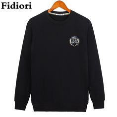 >> Click to Buy << Fidiori 2017 new Fleece men autumn and winter loose cotton hoodies sweatshirt round neck casual long sleeve pullover #Affiliate