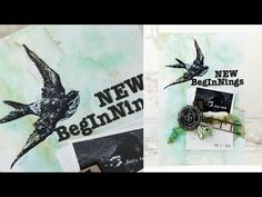New Beginnings Art Journal Page with Shari Carroll - YouTube