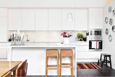 Permanent Link to : White modern kitchen colorful accessories