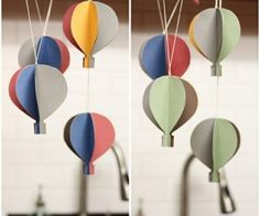 ... make Paper Hot Air Balloon Garland step by step tutorial instruction ... Next project! See more awesome stuff at http://craftorganizer.org