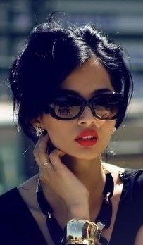 pretty- jewelry, shades. and makeup