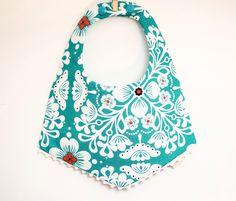 Baby girl Boho bib | baby bib | Fringe colar bib | Reversible | Summer bib | turquoise mint flowers | Baby shower gift | baby gift by NOPEkidswear on Etsy https://www.etsy.com/listing/268161152/baby-girl-boho-bib-baby-bib-fringe-colar